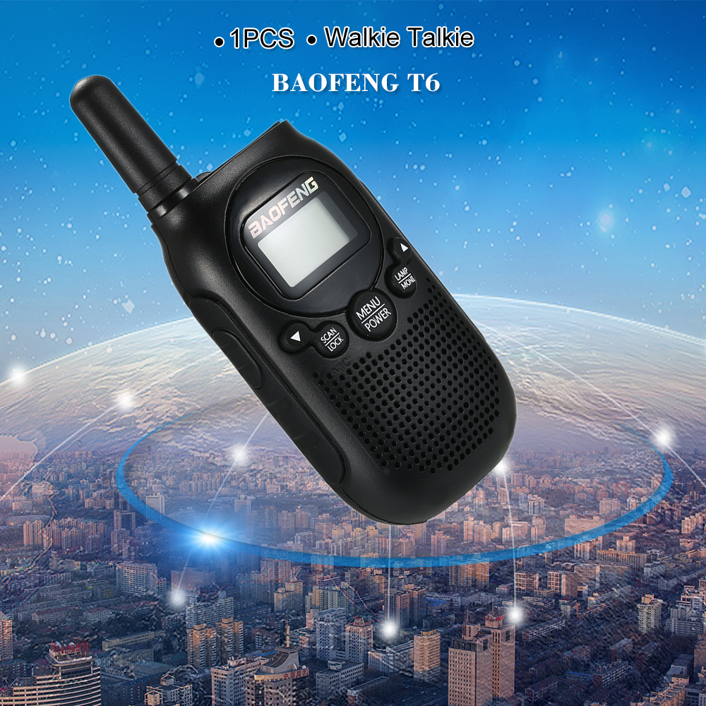 New Arrival Baofeng Walkie Talkie T6 0 5W FRS PMR Fashion Mini Handheld  Two-Way Radio BF-T6 For Kids Toy Ham Radio Transceiver