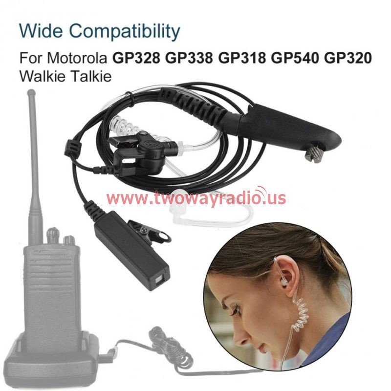 Ptt Acoustic Tube Earpiece For Motorola Gp328 Gp338 Gp318