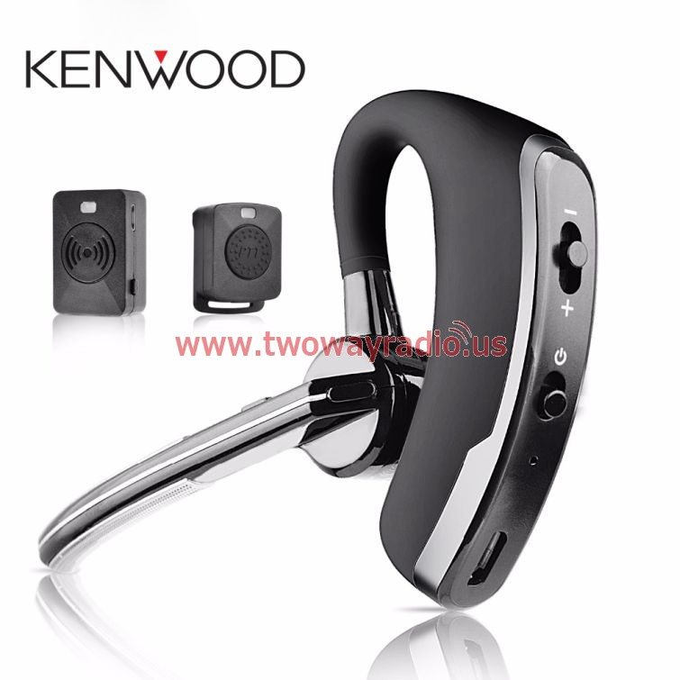 Wireless Walkie Talkie Bluetooth Ptt Earpiece For Kenwood Mic Headset Adapter Baofeng Uv 5r Uv 82 Two Way Radio