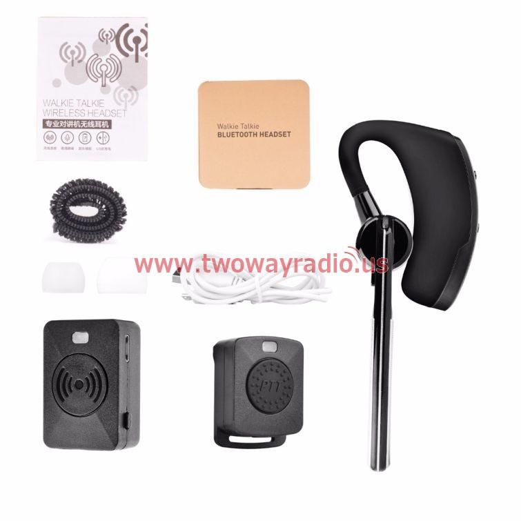 Wireless Walkie Talkie Bluetooth Ptt Earpiece For Kenwood Mic Headset Adapter Baofeng Uv 5r Uv 82 Two Way Radio