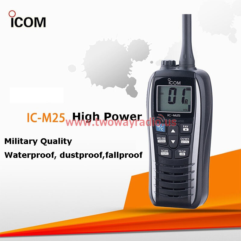 Icom IC-M25 Marine FM Radio High Power Floating Military Quality Waterproof  Dustproof Shatter-resistant